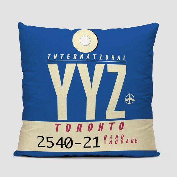 Airportag YYZ Throw Pillow