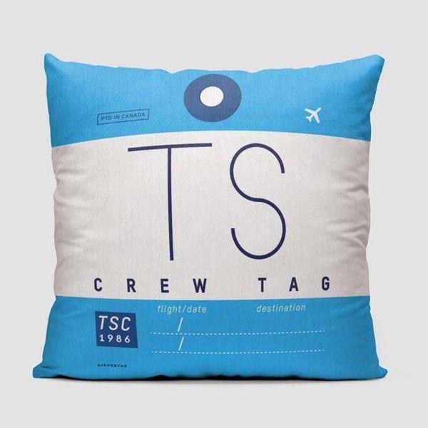 Airportag TS Throw Pillow Air Transat