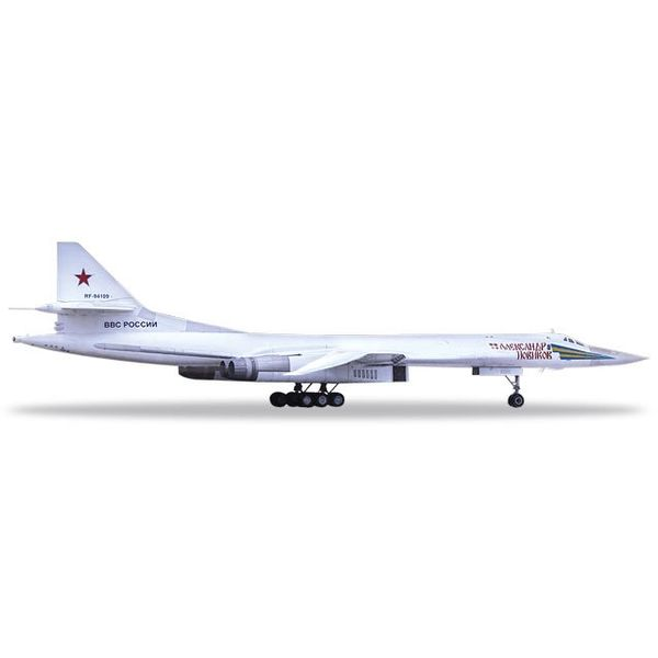 Herpa TU160 Russian Air Force 6950H AB A Novikov 1:200 with stand
