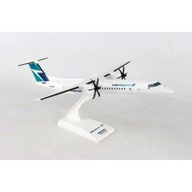 SkyMarks dash8 Q400 WestJet Encore 1:100 with stand
