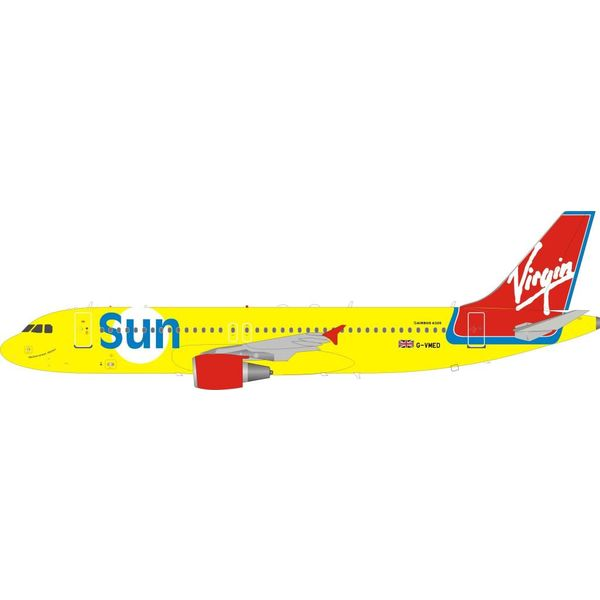 InFlight A320 Virgin Sun G-VMED 1:200 with stand