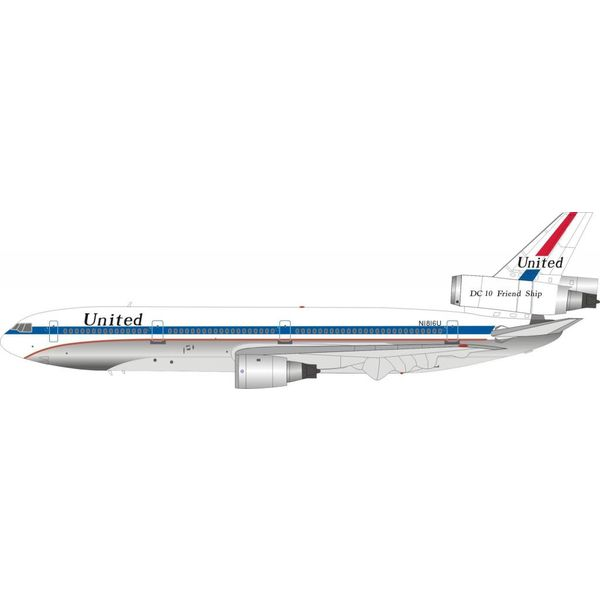 InFlight DC10-10 United Airlines N1816U DC10 Friend Ship Polished 1:200 with stand*NEW MOULD*