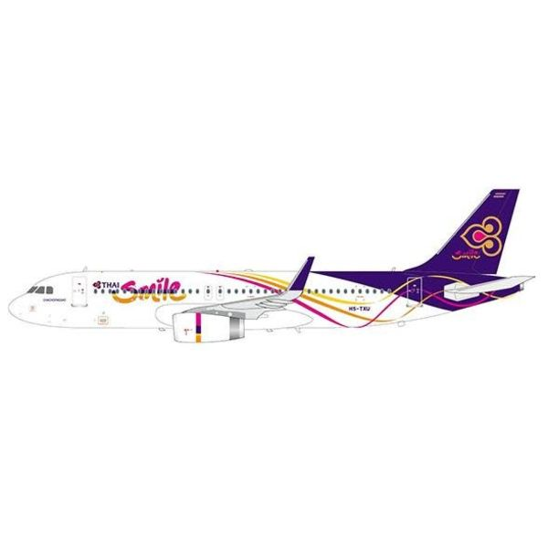 JC Wings A320S Thai Smile HS-TXU 1:200 with stand (sharklets)