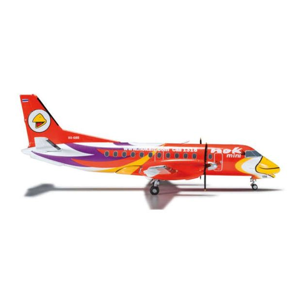 Herpa SF340 NOK Air Mini Orange 1:200 with stand