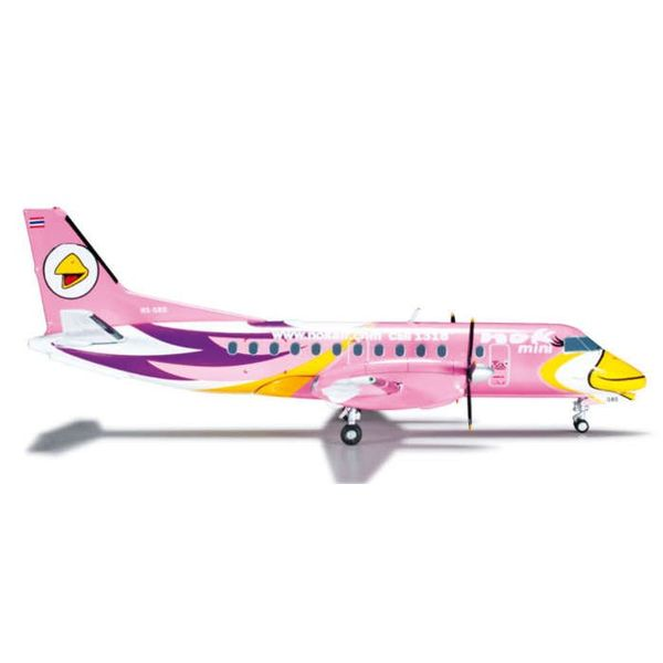 Herpa SF340 NOK Air Mini Pink 1:200 with stand