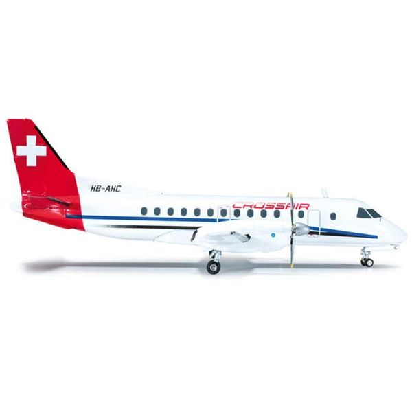 Herpa SF340 Crossair Old Livery 1:200 with stand