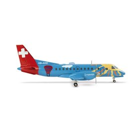 Herpa SF340 Crossair 700 Years Swiss Federation HB-AHD 1:200 with stand