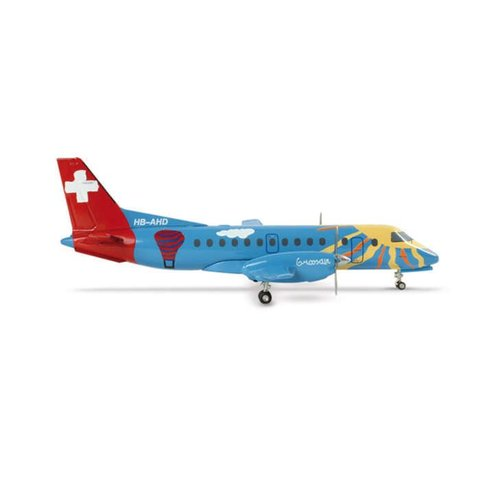 SF340 Crossair 700 Years Swiss Federation HB-AHD 1:200 with stand