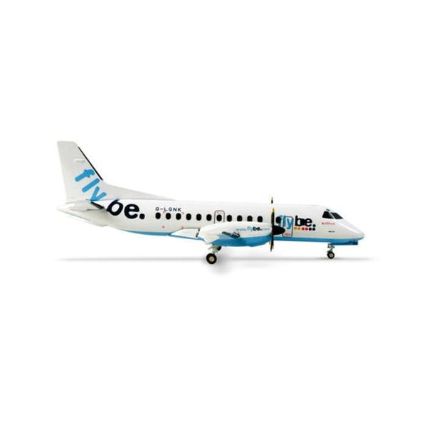 Herpa SF340 flybe G-LGNK 1:200 with stand