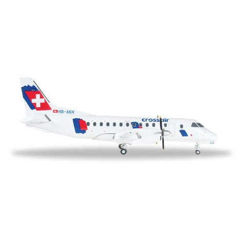 SF340 Crossair New Livery HB-AKH 1:200 with stand