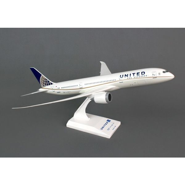 SkyMarks B787-9 Dreamliner United 2010 livery 1:200 with stand