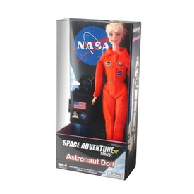 Daron WWT NASA Astronaut Doll (Female) Orange Suit Luggage