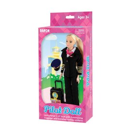Daron WWT Female Pilot Doll (Generic) with luggage