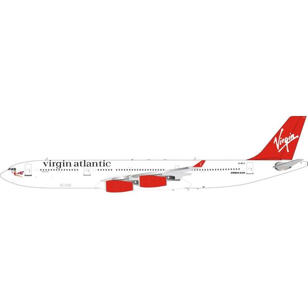 InFlight A340-300 Virgin Atlantic Dragon Lady G-VFLY 1:200 with stand (Limited 50 Pieces)