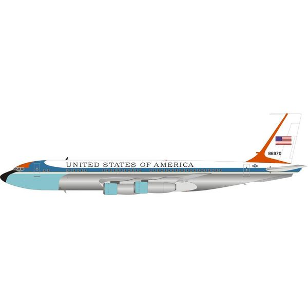 InFlight VC137B / B707-153B US Air Force USAF 58-6970 1:200 with stand Polished