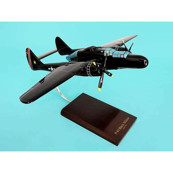 P61B Black Widow USAAF 1:48 mahogany with stand