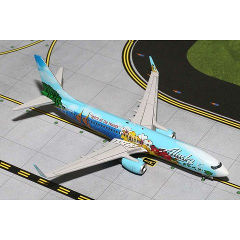 B737-800W Alaska Spirit of the Islands N560AS 1:200 with stand