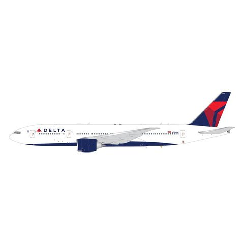 B777-200LR Delta 2007 livery N704DK 1:200 with stand