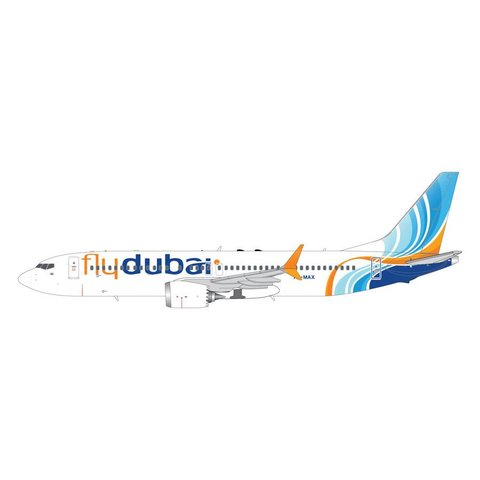 B737 MAX8 Flydubai A6-MAX 1:200 with stand