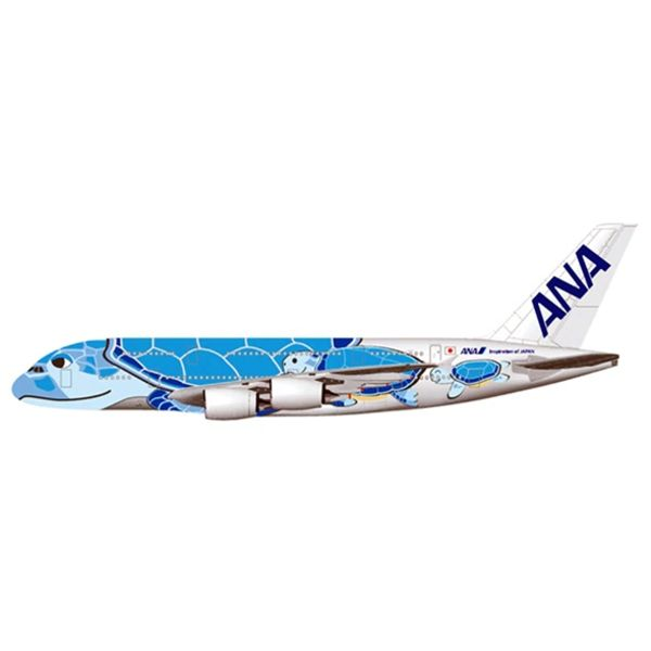 JC Wings A380-800 ANA Sea Turtle Lani blue JA381A 1:200 with stand