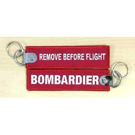Bombardier Key Chain Remove Before Flight Bombardier Red