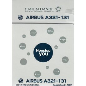 HYJL Wings A321 Lufthansa Star Alliance D-AIRW 1:400