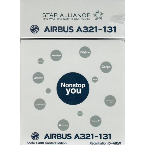 A321 Lufthansa Star Alliance D-AIRW 1:400