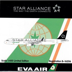 HYJL Wings A321 Eva Air Star Alliance B-16206 1:400