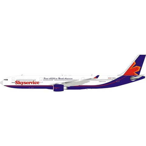 A330-300 Skyservice First A330 in North America C-FBUS 1:200 with stand