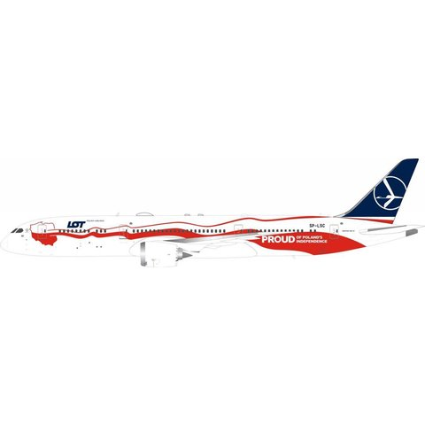 B787-9 Dreamliner LOT Polish 100th Anniversary of Independence SP-LSC 1:200 with stand