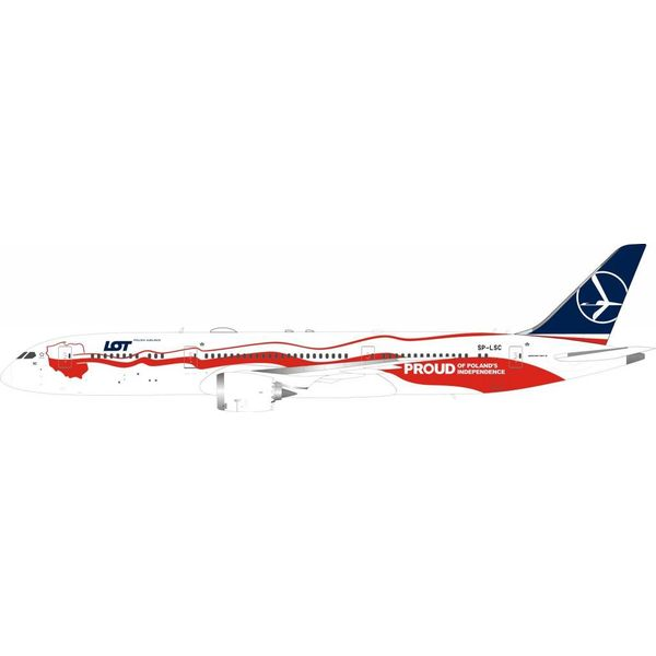 InFlight B787-9 Dreamliner LOT Polish 100th Anniversary of Independence SP-LSC 1:200 with stand