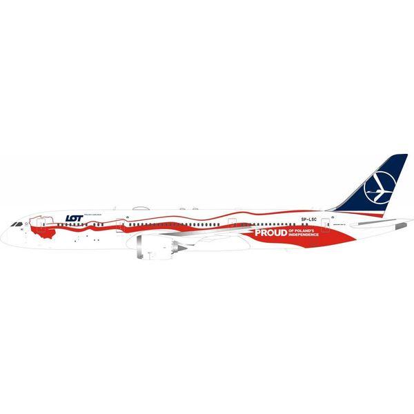 InFlight B787-9 Dreamliner LOT Polish 100th SP-LSC 1:200