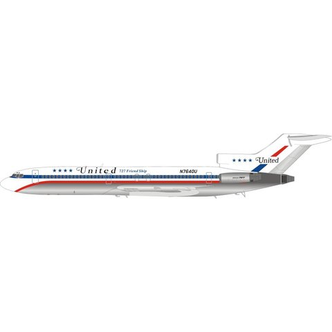 B727-200 United Airlines 727 Friendship N7640U 1:200 with stand