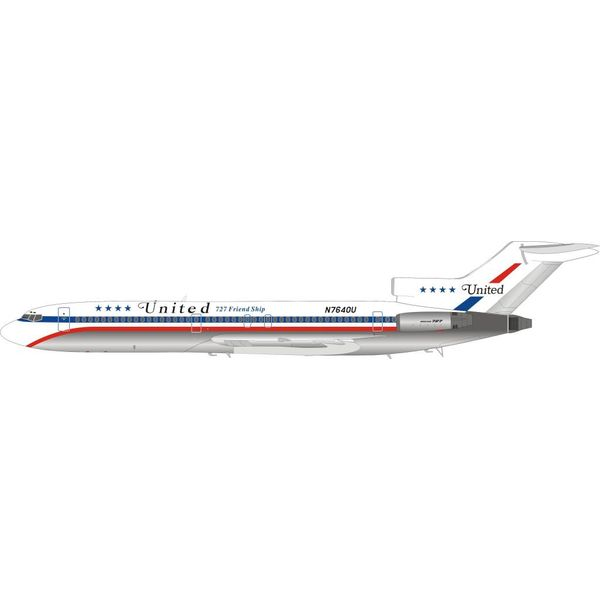 InFlight B727-200 United Airlines 727 Friendship N7640U 1:200 with stand