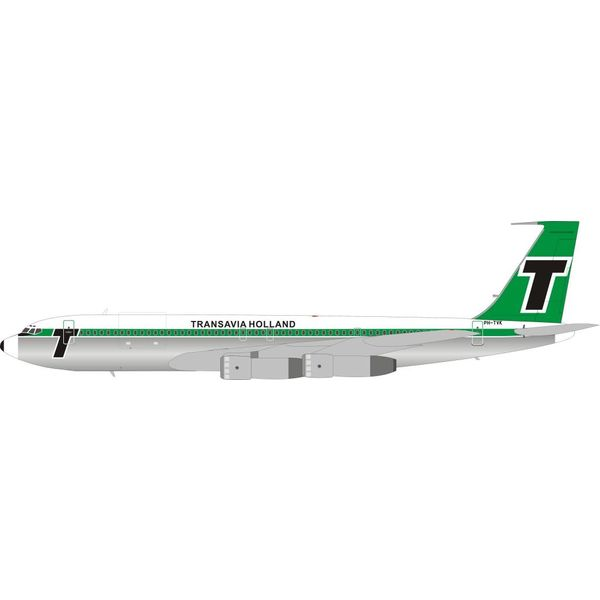 InFlight B707-300 Transavia Holland PH-TVK 1:200 With Stand