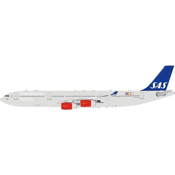 InFlight A340-300 SAS OY-KBA 1:200 with stand