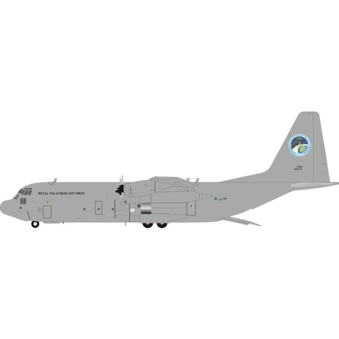 C130H-30 Hercules Royal Malaysian Air Force 50 years M30-15 Grey 1:200 with stand