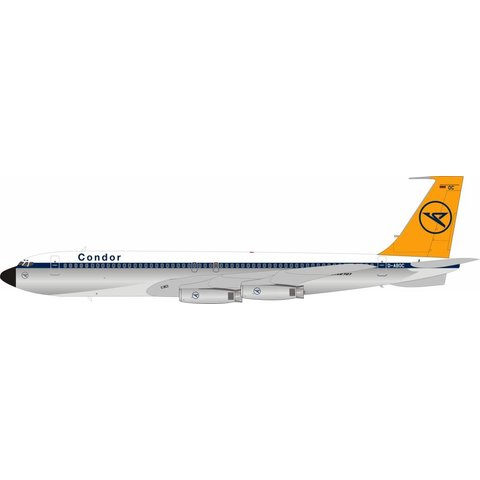 B707-430 Condor D-ABOC Polished 1:200 with stand