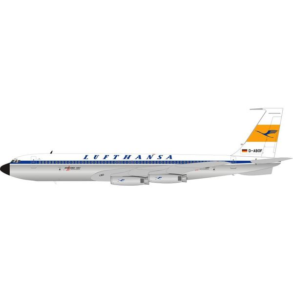 InFlight B707-430 Lufthansa D-ABOF Polished 1:200 with stand