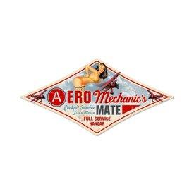 Aero Mechanic's Mate Metal Sign