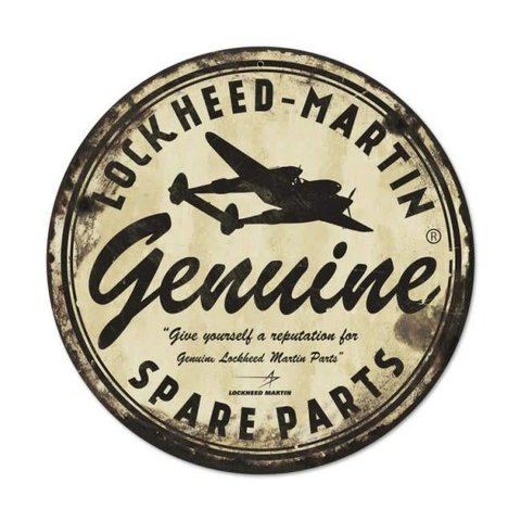 Lockheed Martin Metal Sign
