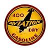 400 Aviation Dry Gasoline Metal Sign round