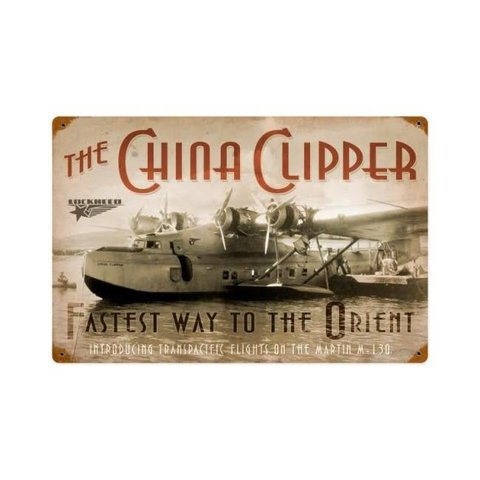 China Clipper Metal Sign