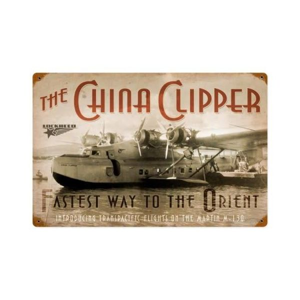 China Clipper Metal Sign