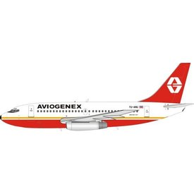 InFlight B737-200 Aviogenex YU-ANU 1:200 with stand
