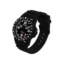 Trintec Industries Copilot Watch Quartz GMT Black Rubber Strap