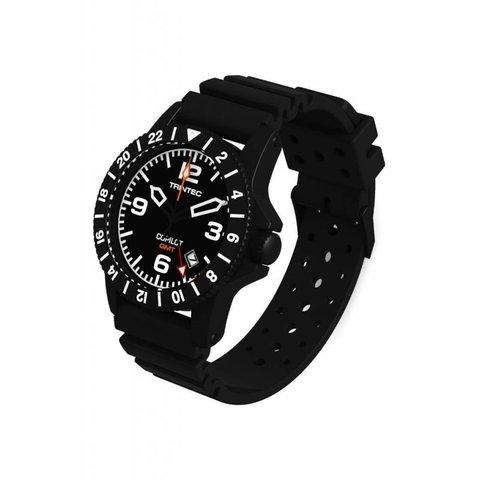Copilot Watch Quartz GMT Black Rubber Strap
