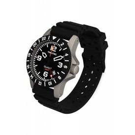 Trintec Industries Copilot Watch Quartz GMT Stainless Black Rubber Strap