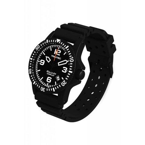 Copilot Automatic Watch Black Rubber Strap