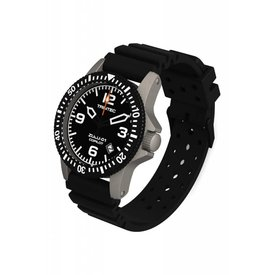 Trintec Industries Copilot Automatic Watch Stainless Black Rubber Strap